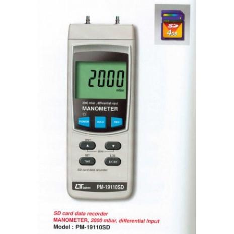 Máy đo áp suất LUTRON PM-19110SD, SD card data recorder