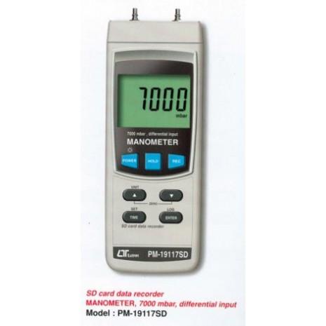 Máy đo áp suất LUTRON PM-19117SD, Sd card data recorder