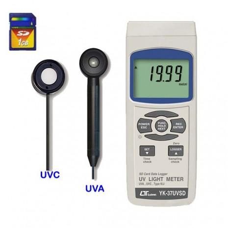 Thiết bị đo tia UVA, UVC Lutron YK-37UVSD