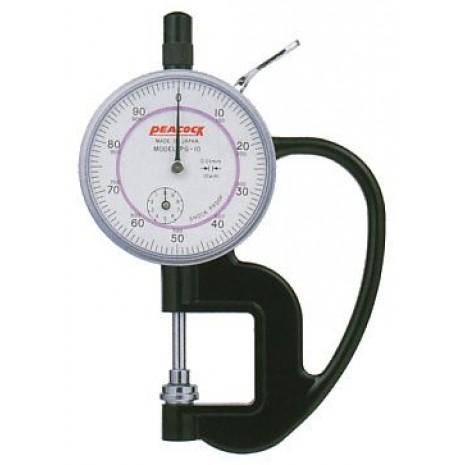 Thiết bị đo độ dày giấy, nylong, vải, da PEACOCK PG 10