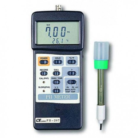 Máy đo PH PH-mV-nhiêt độ, ATC, RS-232/USB Lutron PH-207