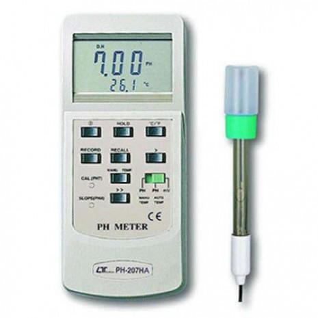 Máy đo PH PH-mV-nhiêt độ, ATC, RS-232/USB Lutron PH-207HA