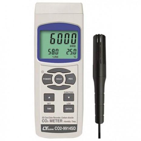 Máy đo nồng độ khí CO2, nhiệt độ, độ ẩm môi trường LUTRON CO2-9914SD