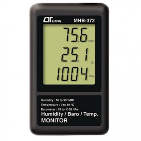 Thiết bị đo áp suất, nhiệt độ, độ ẩm LUTRON MHB-372