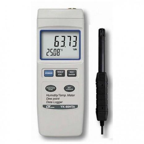 Máy đo nhiệt độ, độ ẩm môi trường, nhiệt độ điểm sương LUTRON YK-80HT