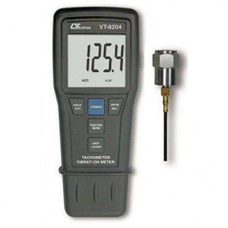 Máy đo độ rung, tốc độ vòng tua trực tiếp, laser LUTRON VT-8204
