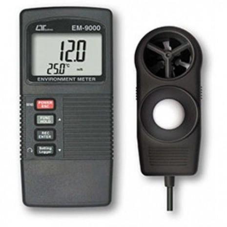 Thiết bị đo tốc độ gió, ánh sáng, nhiệt độ, độ ẩm môi trường 4 in 1 LUTRON EM-9000