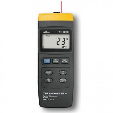Máy đo nhiệt độ bằng tia hồng ngoại 3 in 1 LUTRON TM-2000