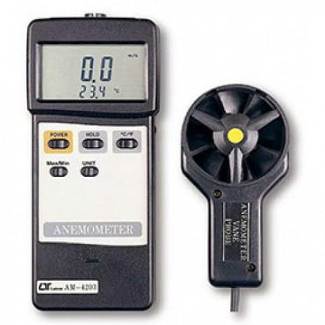 Thiết bị đo tốc độ gió, nhiệt độ môi trường AM-4203