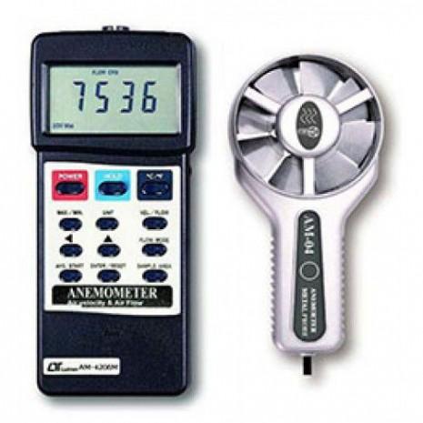 Thiết bị đo tốc độ gió, lưu lượng gió, nhiệt độ môi trường AM-4206M