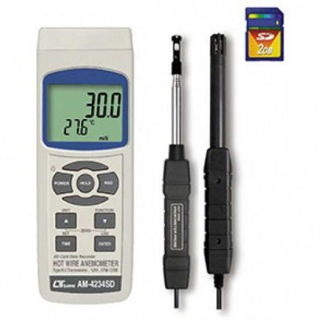 Thiết bị đo tốc độ gió, lưu lượng gió, độ ẩm, nhiệt độ, nhiệt độ điểm sương AM-4234SD