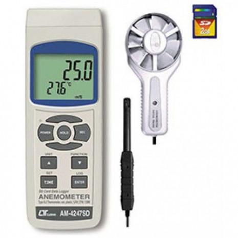 Thiết bị đo tốc độ gió, lưu lượng gió, độ ẩm, nhiệt độ môi trường AM-4247SD