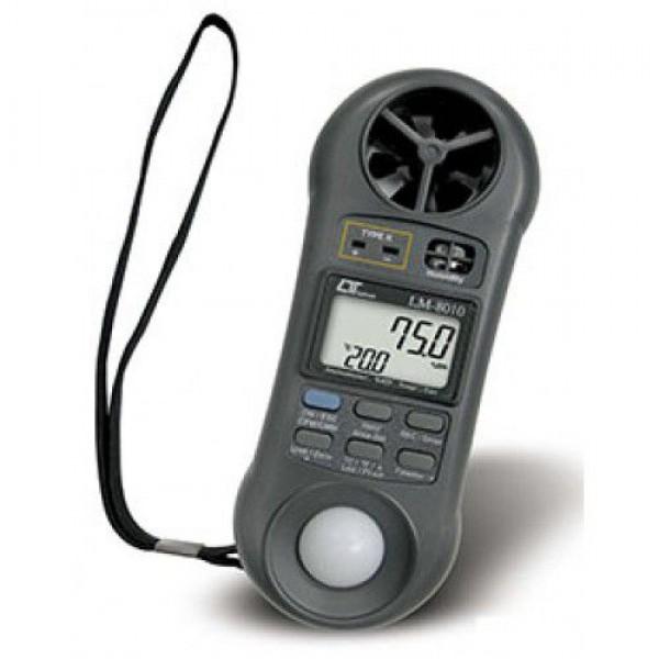 Thiết bị đo tốc độ gió, lưu lượng gió, ánh sáng, độ ẩm, nhiệt độ môi trường LM-8010