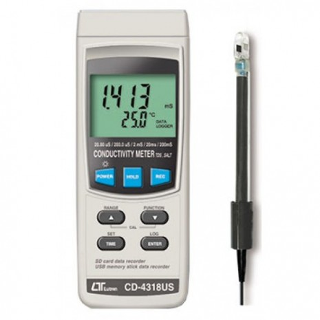 Máy đo độ dẫn điện, độ mặn, TDS LUTRON CD-4318US