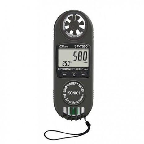 Thiết bị đo tốc độ gió, lưu lượng gió, nhiệt độ, độ ẩm môi trường, nhiệt độ điểm sương (7 in 1) SP-7000