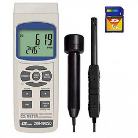 Máy đo nồng độ khí CO, độ ẩm không khí, nhiệt độ môi trường, nhiệt đổ điểm sương Lutron COH-9902SD