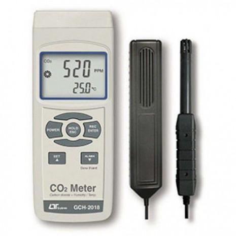 Máy đo nồng độ khí CO2, nhiệt độ, độ ẩm môi trường, nhiệt độ điểm sương LUTRON GCH-2018