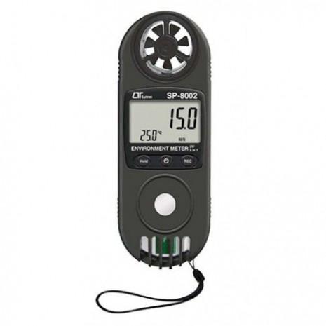 Máy đo tốc độ gió, lưu lượng gió, tia UV, nhiệt độ, độ ẩm (9 in 1) LUTRON SP-8002